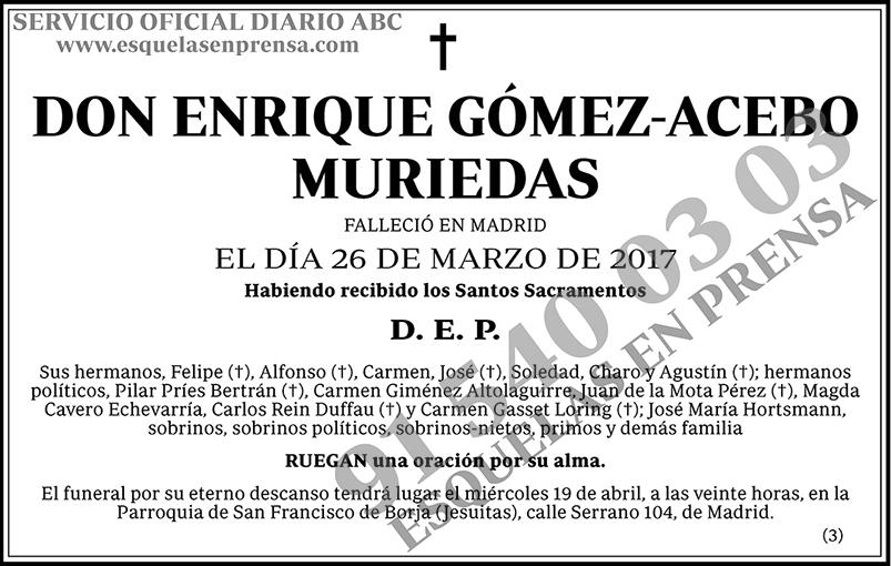 Enrique Gómez-Acebo Muriedas